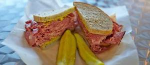 sandwich-corned-beef by kaufmans deli skokie IL