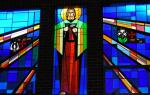 St Joseph IN GLASS  st aphonsus church wexford, PA