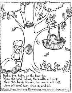 cradle lullabye cartoon