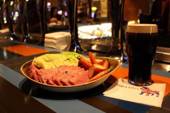 corned beef and cabbage and guinness