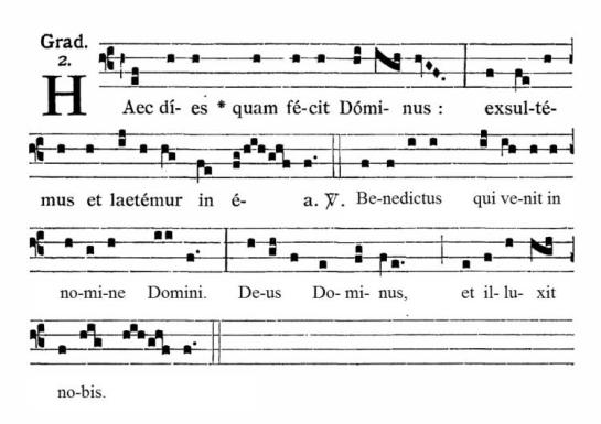 Haec Dies Quam Fecit Dominus gregorian