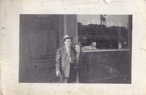 MOM AND DAD at uncle leonard's 1943