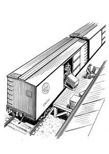 boxcar unloading